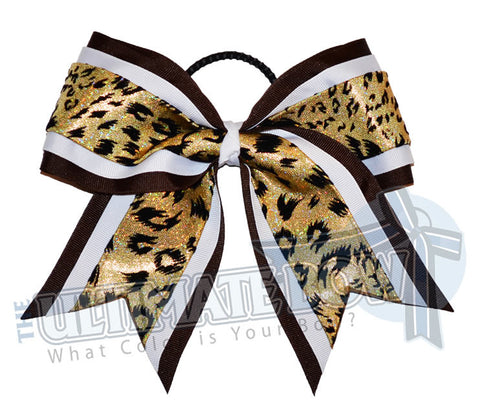 superior-spirited-leopard-brown-white-gold-holographic-snow-leopard-cheer-bow