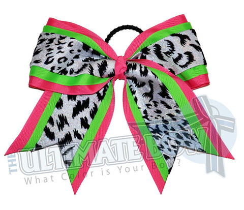 superior-spirited-leopard-neon-green-hot-pink-white-holographic-snow-leopard-cheer-bow
