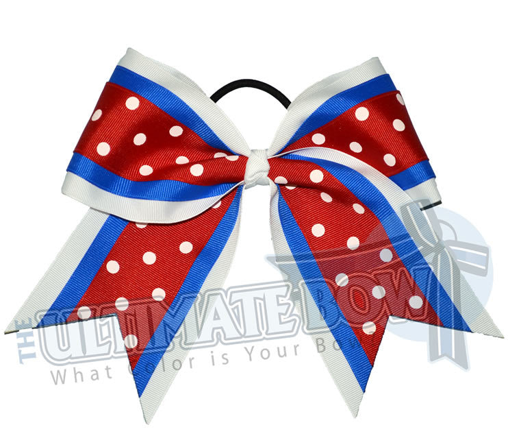 superior-sprinkle-dots-white-electric-blue-red-polka-dots-cheer-bow