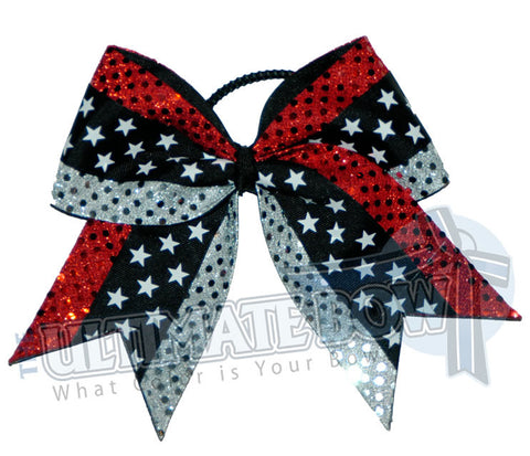 Superior-star-burst-red-silver-sequin-dots-black-white-stars-cheer-bow