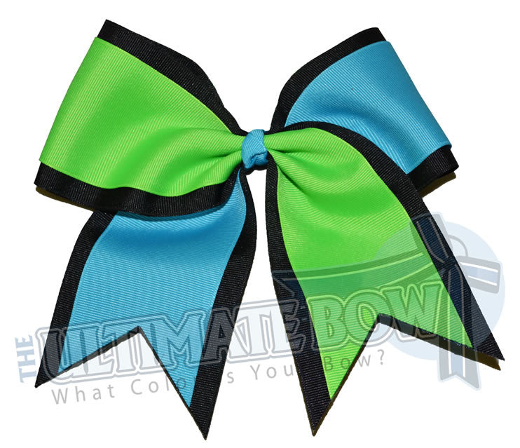 Superior-summer-splits-black-neon-green-turquoise-white-cheer-bow