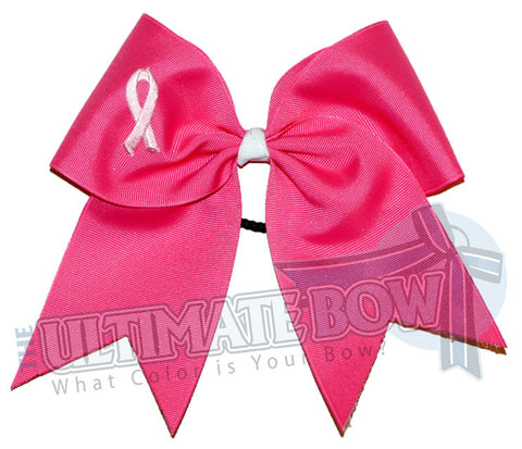 Breast Cancer Awareness Cheer Bow | support-awareness-pink-ribbon-breast-cancer-cheer-bow