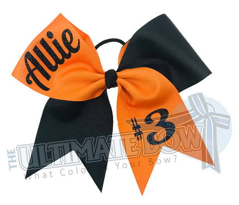 Superior Teamwork Cheer Bow | Softball Hair Bow