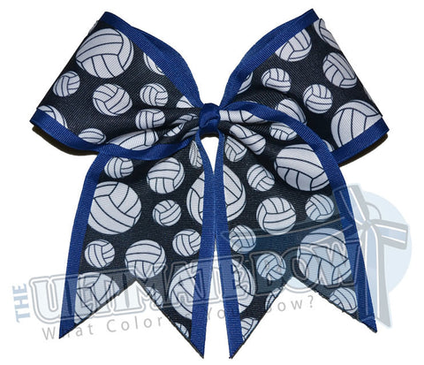 superior-volleyball-hair-bow-royal-blue-black-white-volleyball-ribbon