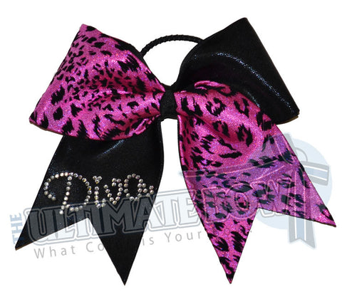 Superior Wildcat Diva | Mystic Cheerleading Bow | Rhinestone Cheer Bow