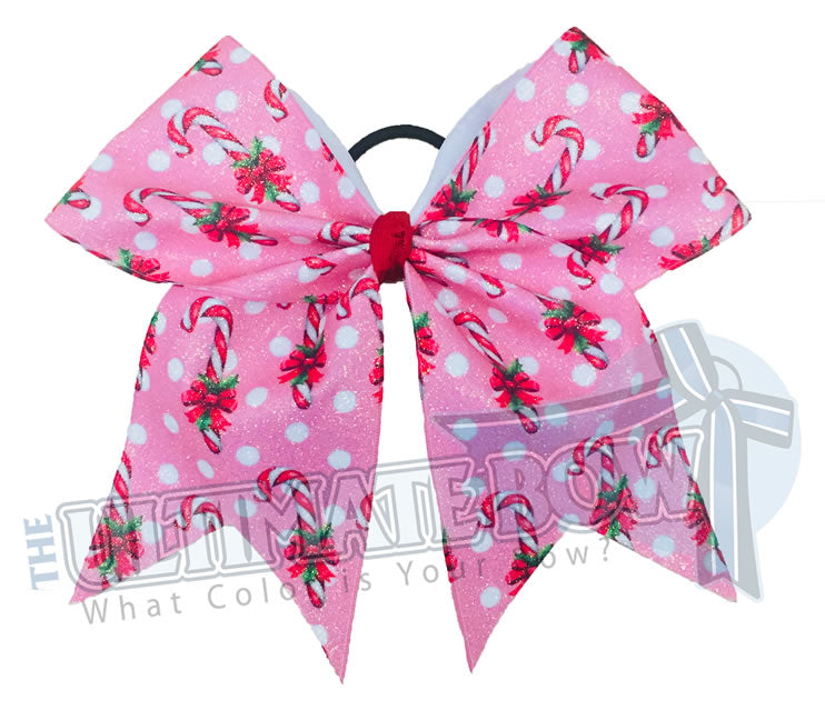 Chistmas-holiday-candy-cane-pink-polka-dots-glitter-cheer-bow-holiday
