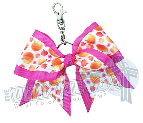 Sweet Pumpkins Fall/Halloween Key Chain Bow