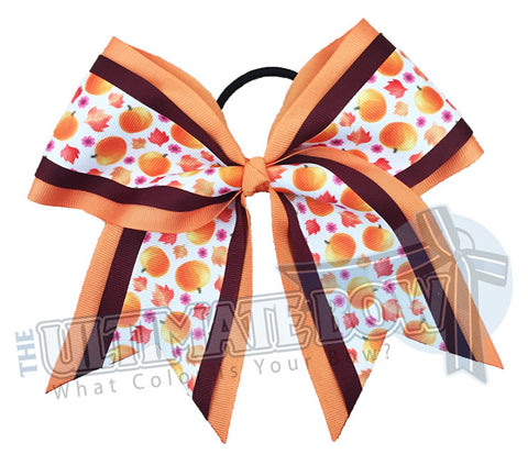 Sweet Pumpkins - Fall / Halloween Cheer Bow