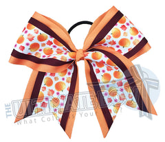 Sweet-pumpkins-fall-hair-bow-texas-sized-Halloween-cheer-bow-softball-bow-holiday-hair-bow-maroon