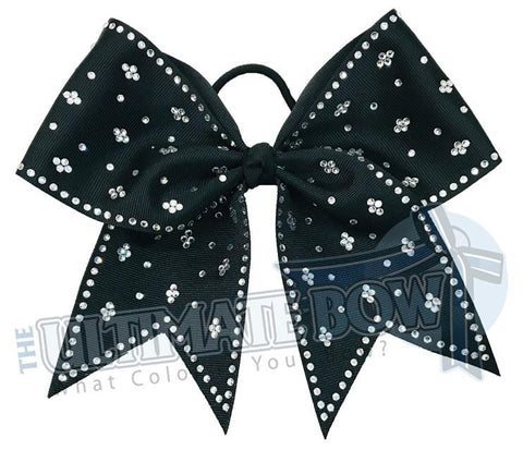 Taylors Tears Rhinestone Cheer Bow | Rhinestone ribbon grosgrain | Black Cheer Bow | cheer-bow