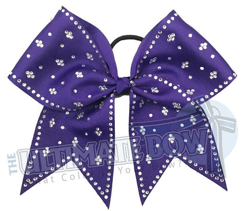 Taylors Tears Rhinestone Cheer Bow | Rhinestone ribbon grosgrain | Purple Cheer Bow | cheer-bow