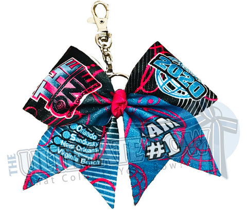 The ONE - Exclusive The ONE Event Glitter Key Chain Cheer Bow 2020