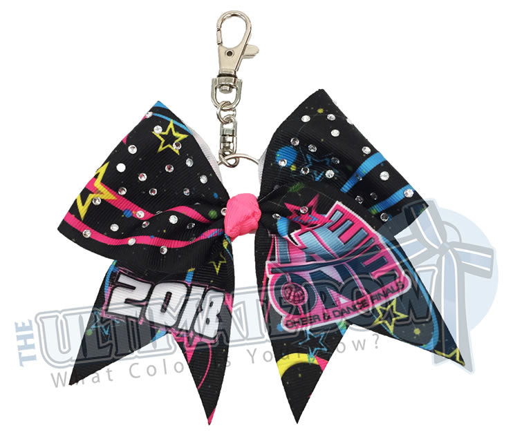 The-ONE-Cheer-Dance-Finals-Rhinestone- Key Chain Cheer-Bow-rhinestones-event-bow-exclusive-2018