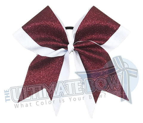 Top Down Full Glitter Cheer Bow | Cheerleading Hair Bow