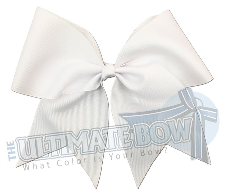 Plain-big-white-cheer-bow-superior-big-try-outs-cheerleading-bows
