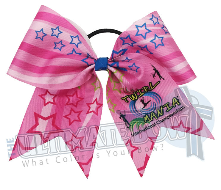 Twirl-Mania-2018-exclusive-pink-ribbon-hair-bow-Twirlers-Disney-Twirl