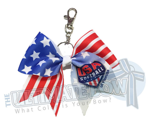 USA Softball of Florida - Official Keychain Bow