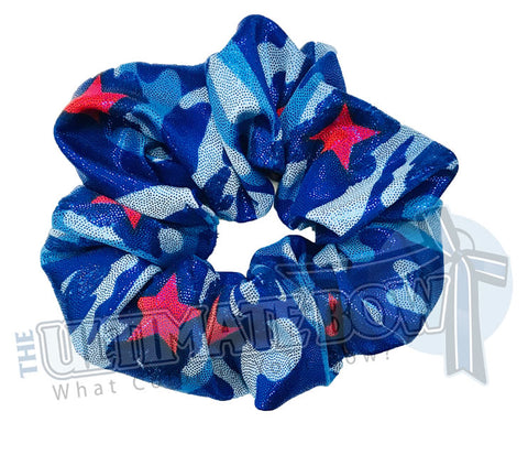 USA Metallic Camo Scrunchies | Red White and Blue Scrunchies