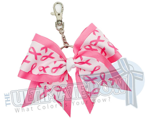 Ultimate Pink Ribbon Key Chain Bow