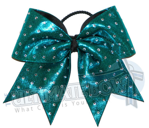 Ultimate Rhinestones Cheer Bow | Rhinestone Stud Cheer Bow | Mystic Cheerleading Bow