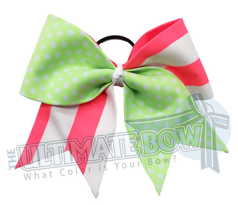 summertime-vintage-summer-fun-stripes-polka-dots-beach-cheer-bow-cheer-camp-neon-green-neon-peach-beach-ribbon