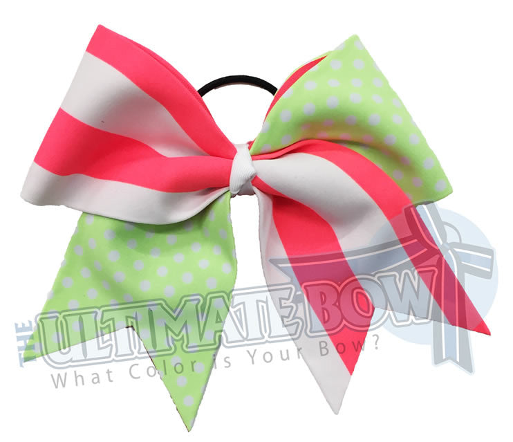 summertime-vintage-summer-fun-stripes-polka-dots-beach-cheer-bow-cheer-camp-neon-green-polka-dots-neon-peach-stripes-beach-ribbon