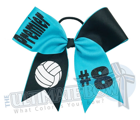 Volleyball Team Hair Bow | Volleyball Hit Hair Bow | Volleyball Bow | Team Volleyball | Premier Volleyball Club