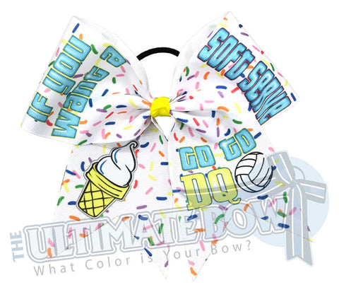 If you want a Soft Serve go to DQ Volleyball Hair Bow | Sublimated Hair Bow