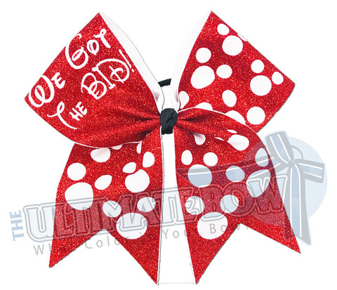 We Got the Bid - Full Glitter Polka Dots Cheer Bow | Cheerleading Hair Bow | Orlando Bow