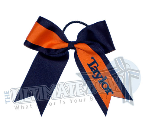 whats-my-name-cheer-bow-orange-navy-blue-Taylor