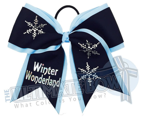 Winter-Wonderland-rhinestone-snowflake-hologram-cheer-bow-softball-bow