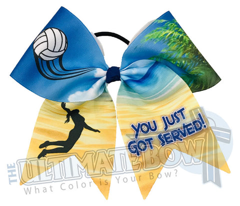 You Just Got Served Volleyball Hair Bow | Pink Volleyball Hair Bow  | You Just Got Served | Beach Volleyball Bow