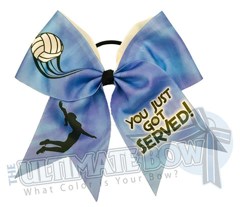 You Just Got Served Volleyball Hair Bow | Pink Volleyball Hair Bow  | You Just Got Served | Blue Volleyball Bow
