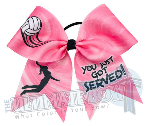 You Just Got Served Volleyball Hair Bow | Pink Volleyball Hair Bow  | You Just Got Served | Pink Volleyball Bow