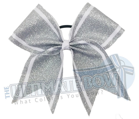 Full Glitter Sidelines - Cheer Bow | Cheerleading Hair Bow | Glitter Cheer Bow