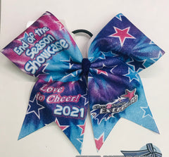 CDE - End of The Season Showcase Big Glitter Cheer Bow - February 2021