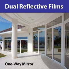 dual reflective window tinting films