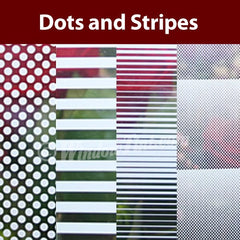 Dots and Stripes Window Tinting Films