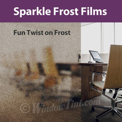 Sparkle Frost Window Tinting Films