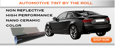 Automotive window tinting films