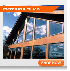 Exterior window tinting films