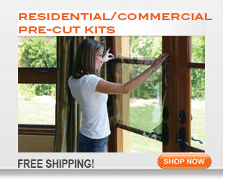 Residential window tinting kits