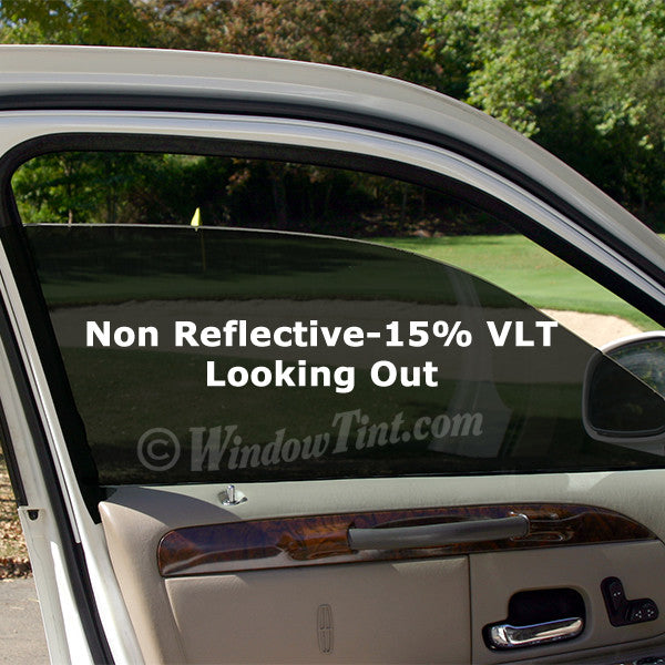 Pro non reflective 15 vlt car window tinting film for Window tint film