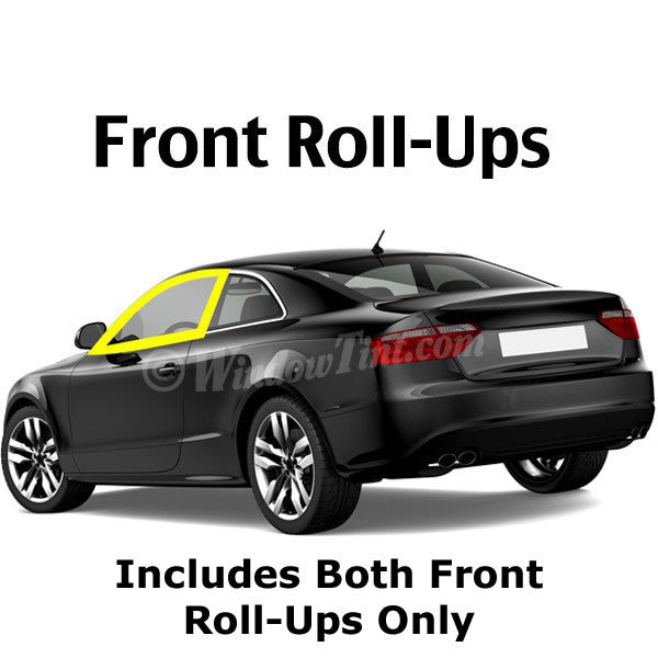 2 Door Car Front Roll Ups Window Tinting Kit