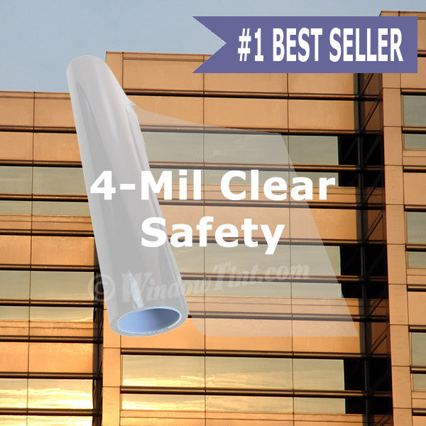 4 Mil Clear Safety Window Tinting Film