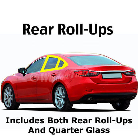 4 Door car rear roll ups window tinting kit