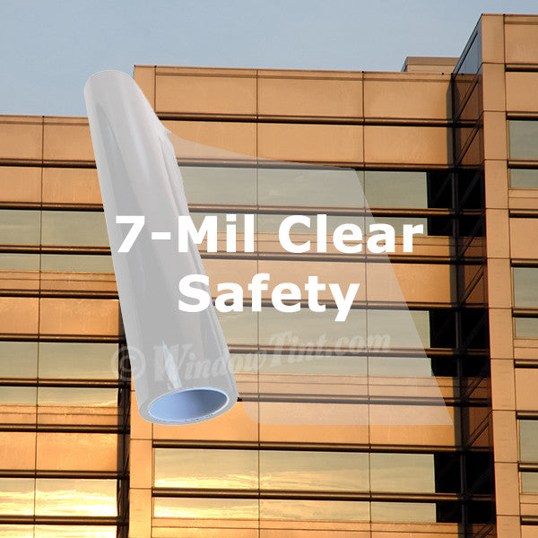 7 Mil Clear Safety Window Tinting Film