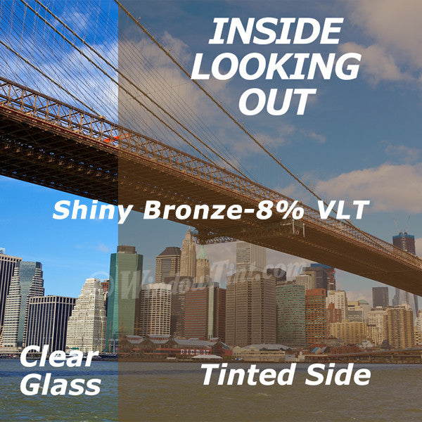 Shiny Bronze Window Tinting Film