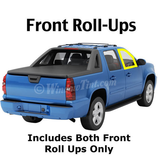 Crew Cab Truck front roll ups window tintin kit