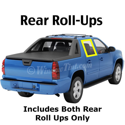 Crew Cab Truck rear roll ups window tinting kit